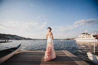 BRIDE ON DOCK